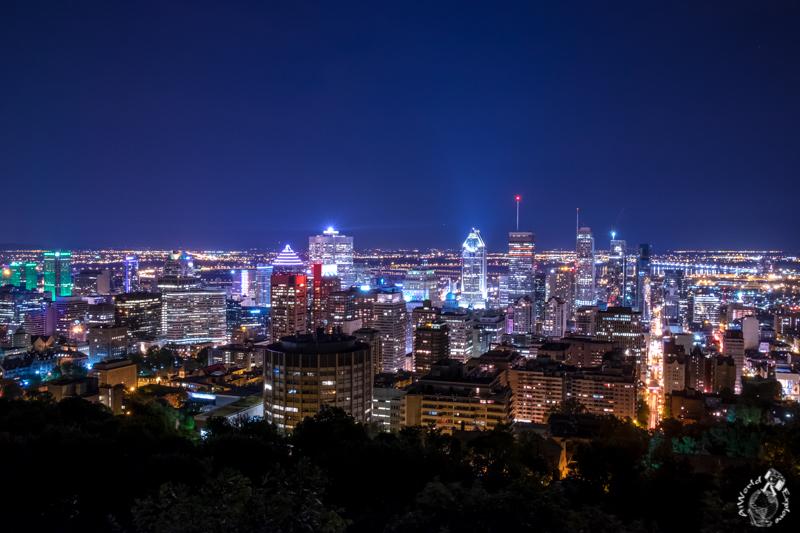 モントリオールモンロワイヤル公園の夜景