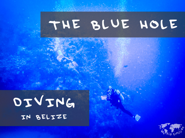 ベリーズのブルーホールでダイビング