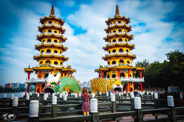 Dragon and Tiger Pagodas, Kaosiung, Taiwan