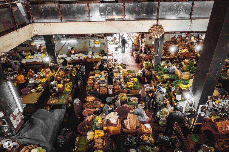 ベトナムダラットのローカルマーケット