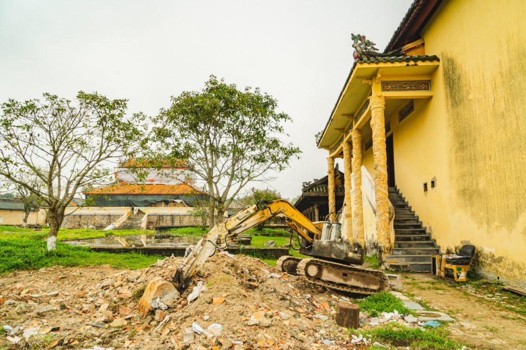 ベトナムフエ王宮の工事