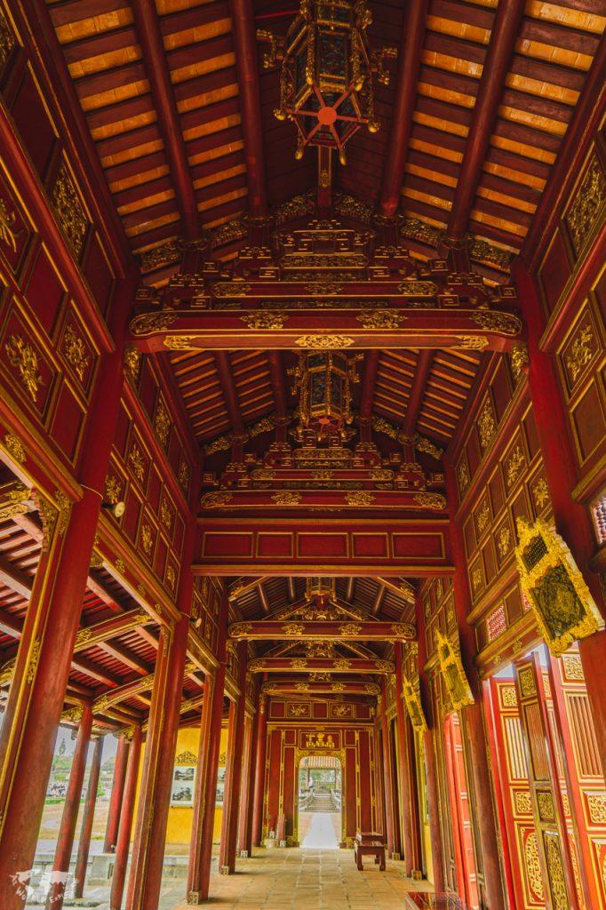 ベトナムフエ王宮の回廊