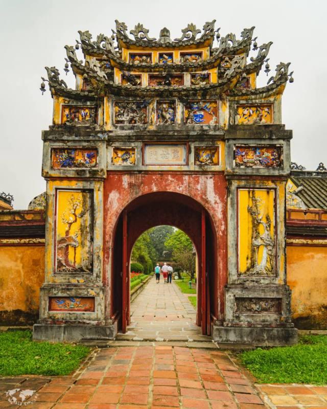 ベトナムフエ王宮の門