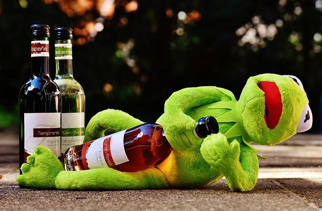 カエルの酔っぱらい