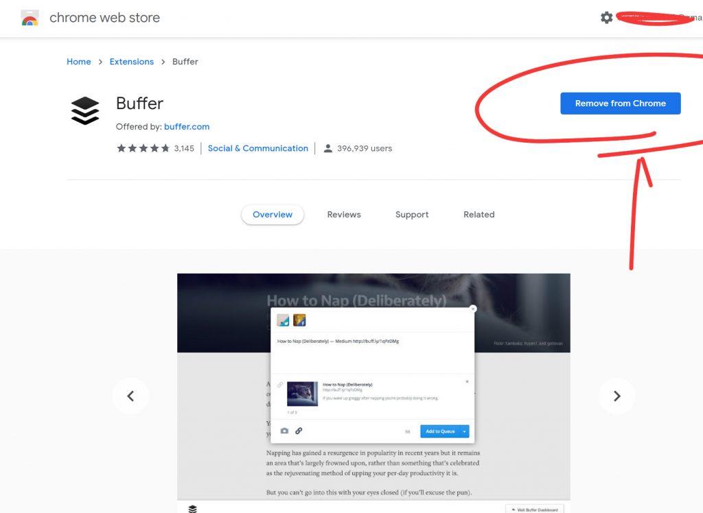 bufferのクロームプラグインのインストール