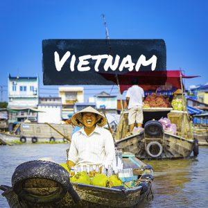 ベトナムの水上マーケット