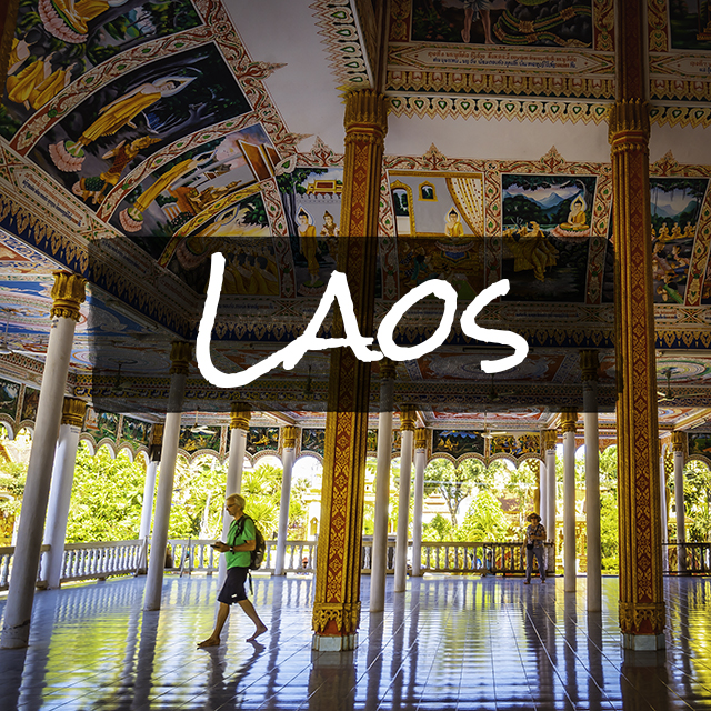 ラオスのお寺