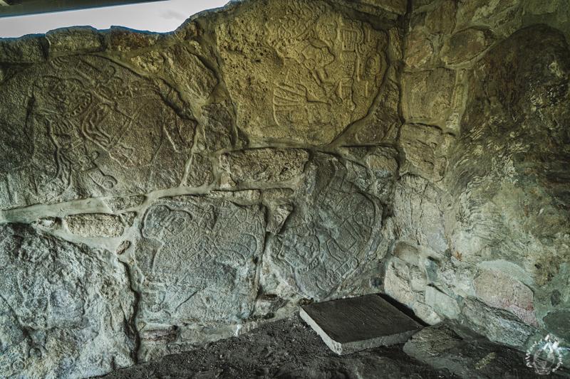 オアハカのダインツ遺跡の石彫
