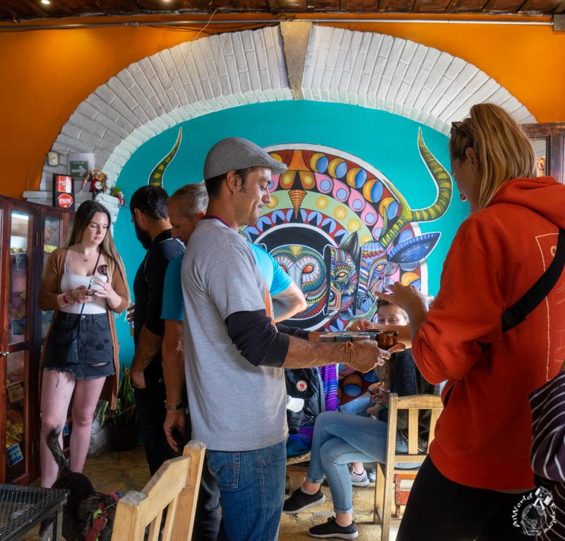 メキシコのサンクリストバルデラスカサスのカフェ