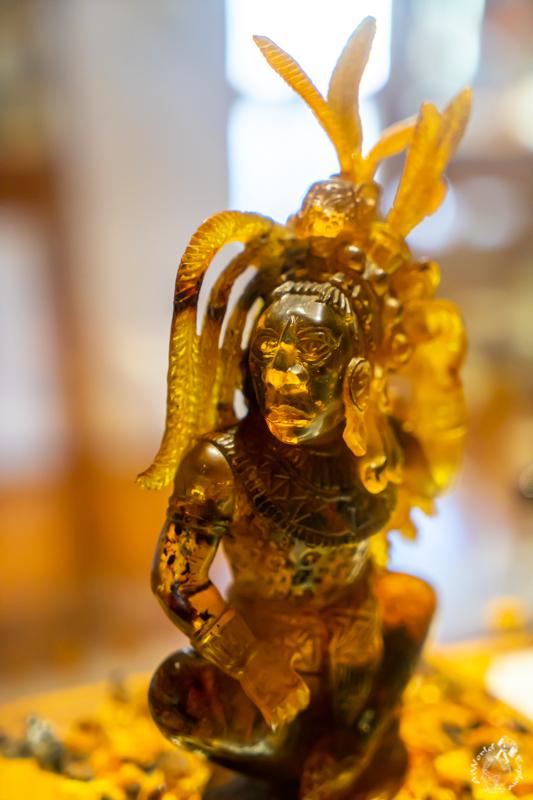 サンクリストバルデラスカサスのアンバーミュージアムのコレクションの一つマヤ