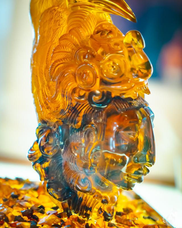 サンクリストバルデラスカサスのアンバーミュージアムのコレクションの一つマヤの王様