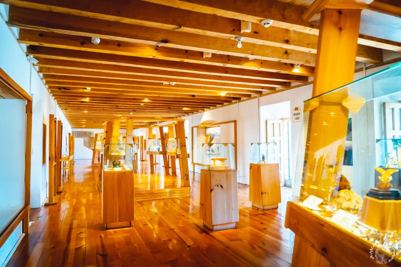 サンクリストバルデラスカサスのアンバーミュージアムの展示室