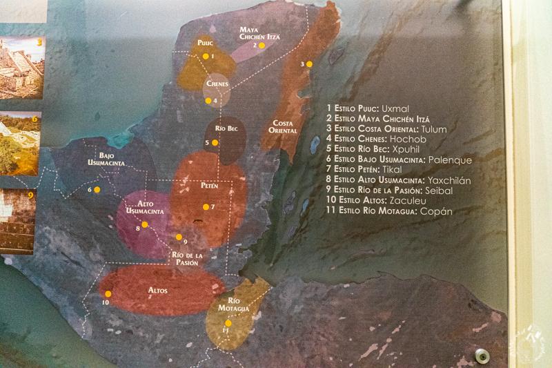 マヤ文明エリアマップ