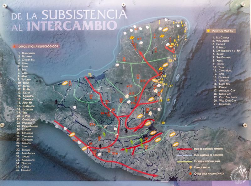 マヤの貿易マップ