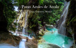 """タスコから秘境の滝""""ポサス・アスーレス""""へ/行き方  Pozas Azules de Atzala"""
