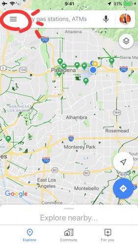 グーグルマップのオフラインマップのダウンロードしたマップの削除方法
